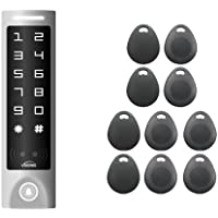 FPC- 5679 VIS-3003 Access Control Weatherproof Metal Housing Anti Vandal and Anti Rust Digital Touch Keypad/Reader Standalone No Software 2000 Users with Doorbell Slim Version with 10 Keytags