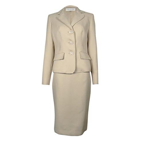 Cheap Evan Picone Women's Work Smart Textured Skirt Suit supplier