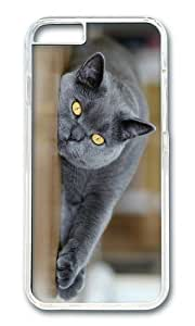 MEIMEIMOKSHOP Adorable Cat yellow Eyes Hard Case Protective Shell Cell Phone Cover For Apple Iphone 6 Plus (5.5 Inch) - PC TransparentMEIMEI