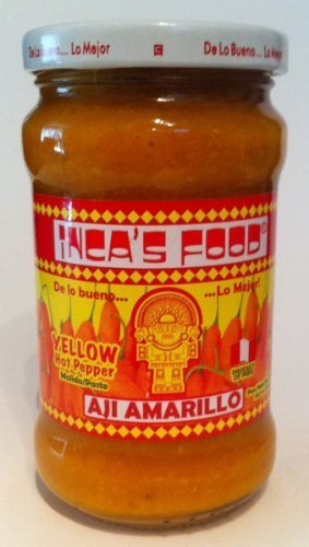 (Inca's Food Aji Amarillo - Yellow Hot Pepper Molido/paste 10.5oz - Product of Peru )