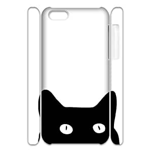 Custom New Case for Iphone 5C 3D, Black Cat Phone Case - HL-R636852