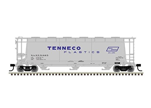 Tenneco Plastics 3-Bay Cylindrical Covered Hopper #51885 HO Scale