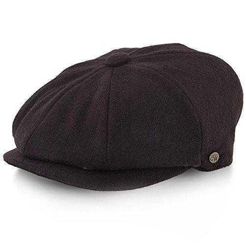 Wool Blend Snap - Shelby - Walrus Hats Brown Wool Blend 8 Panel Newsboy Cap
