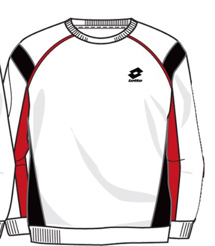 Lotto sweat-shirt Race, uomo, White/Black