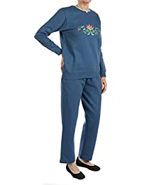 Women's Embroidered Fleece Sweatsuit Set