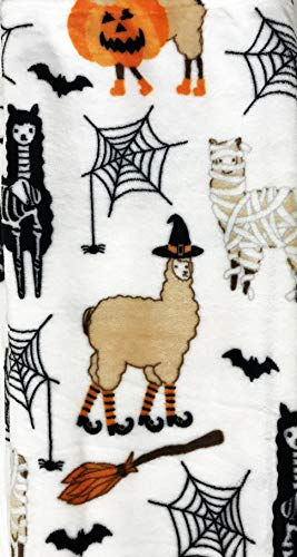 Cute Happy Halloween Themed Soft Decorative Plush Throw Blanket -
