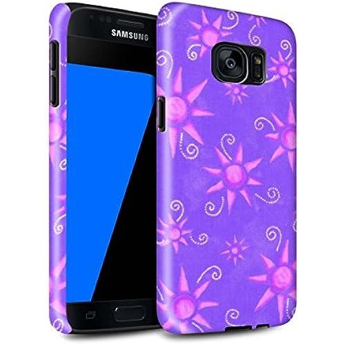 STUFF4 Gloss Tough Shock Proof Phone Case for Samsung Galaxy S7/G930 / Purple/Pink Design / Sun/Sunshine Pattern Sales