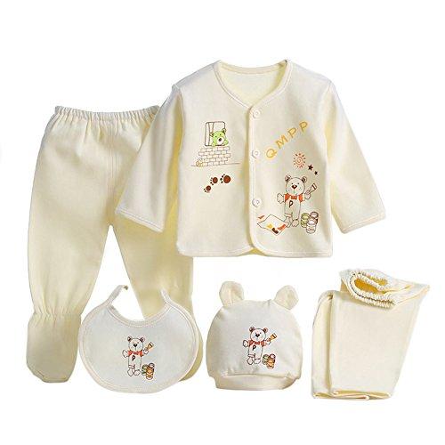 Per 5 piezas Conjuntos de ropa para bebé Canastilla de algodón Traje de bebé  Regalo para 164bdcd51ed