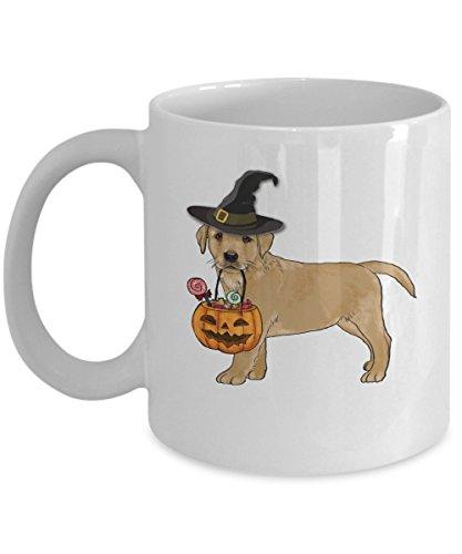 Happy Halloween Golden Retriever pumpkin witch - 11