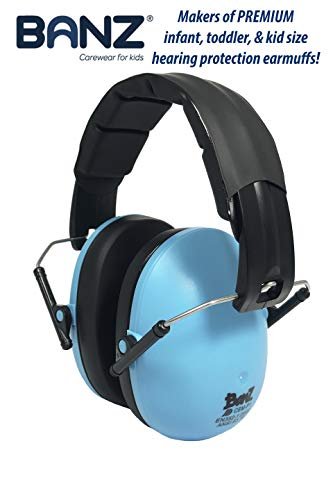 - BANZ Kids Headphones - Hearing Protection Earmuffs For Children - ADJUSTABLE headband to fit all ages - Protect Kids Ears - Block Noise - Fireworks - Sporting Events - Concerts - Movies (Blue)