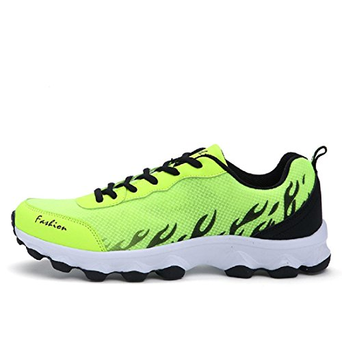 Hombres Zapatos deportivos El nuevo Moda Respirable Antideslizante Formación Zapatos de viaje Zapatos para correr Green