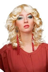 Carnaval, Peluca voluminosa, rubio-rubio-claro, angelito, niño Jesús, con raya al medio 61842-P88