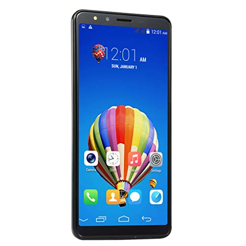 Hotcl GSM/3G WiFi Unlocked Smartphone 5.7'' FullView Display, Android 6.0 Dual-Core 512MB+4G GSM Dual-Lens Camera, Dual SIM, Expandable Storage (Black)]()