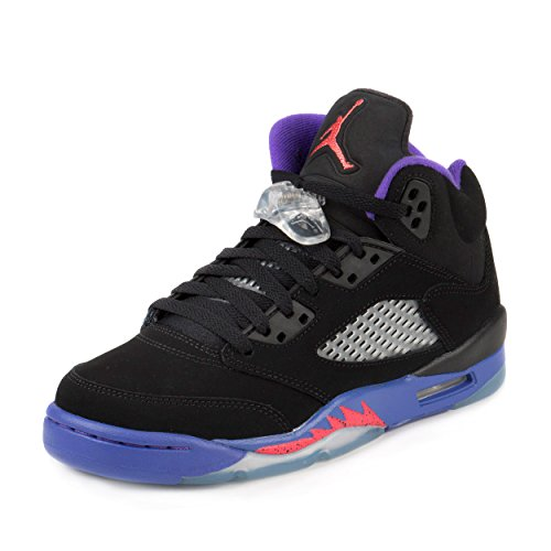 Jordan Air 5 Retro GG Big Kid's Shoes Black/Ember Glow/Fierce Purple 440892-017 (3.5 M US) by Jordan