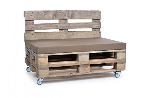 Palettenkissen, Gartenmöbel Auflagen, Sitzbankauflage, Matratzenauflagen auch m. Rückenlehne, UV-Beständig in Taupe