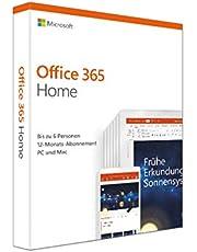 Microsoft Office 365 Home multilingual   6 Nutzer   Mehrere PCs / Macs, Tablets und mobile Geräte   1 Jahresabonnement   Box