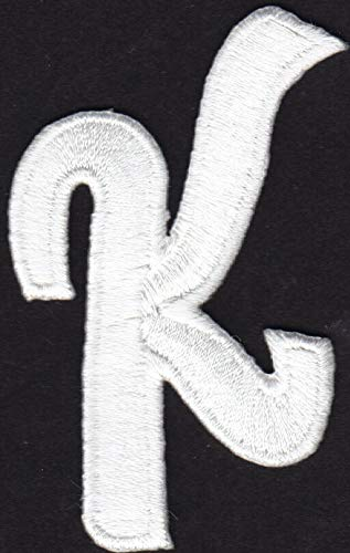 "Iron On Embroidered Applique Black Script Letter /""G/"" SCRIPT LETTERS"