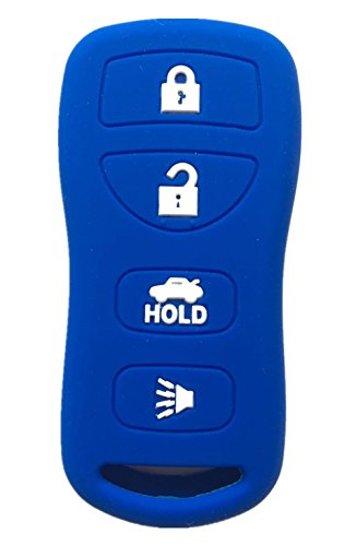 Rpkey Silicone Keyless Entry Remote Control Key Fob Cover Case protector For Infiniti FX35 FX45 G35 I35 Q45 QX56 Nissan 350Z Altima Armada Maxima Quest Sentra KBRASTU15 28268-C991A - Silicone Nissan 350z