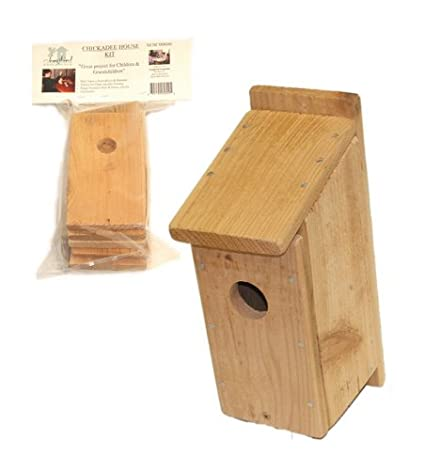 Songbird Essentials Diy Build A Birdhouse Chickadee Kit Made Of Cedar Wood Great Project For Kids