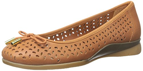 Lauren Di Ralph Lauren Womens Nia Slip-on Mocassino Polo In Pelle Di Capra Marrone Cashmere