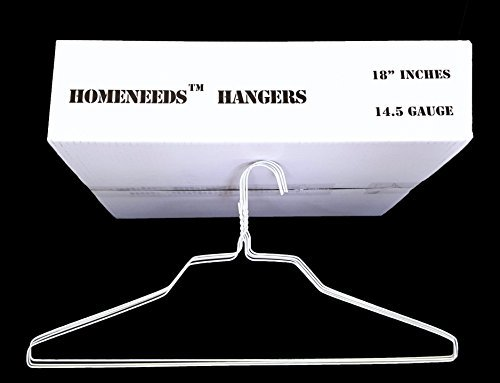 """200 Wire Hangers 18"""" Standard White Clothes Hangers"""