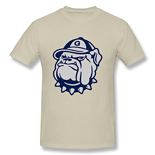 DeMai Mens Design Blank T-shirt/Georgetown University Hoya XX-Large Natural