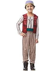 زي تنكري للاولاد من روبيز على هيئة علاء الدين من عالم ديزني، المقاس Small - العمر 3 - 4 سنوات
