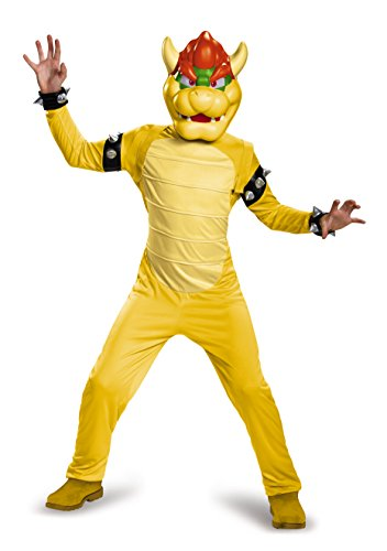 Bowser Deluxe Costume, Medium (Character Costumes For Kids)