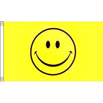 Smiley Banner 150 X 90 Cm Lachender Smiley Auf Gelbem Grund 100