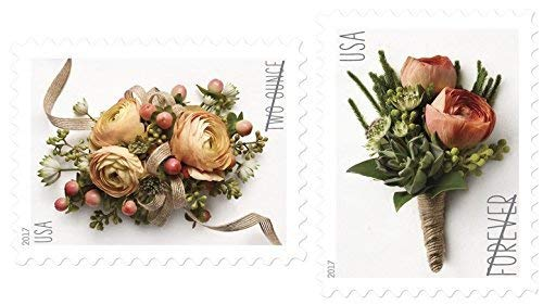 USPS Forever Stamp: Celebration Corsage and Boutonniere Combination Package (1 Sheet of Each) ()
