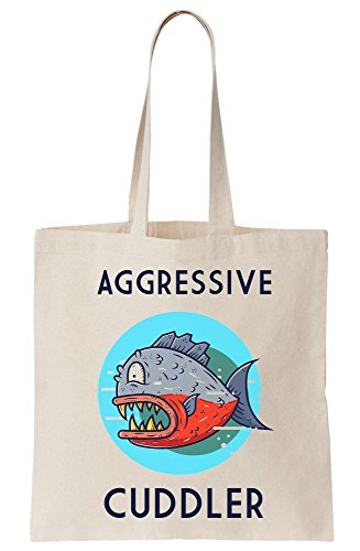 Canvas Aggressive Fish Cuddler Tote Piranha Bag wxx6aFt