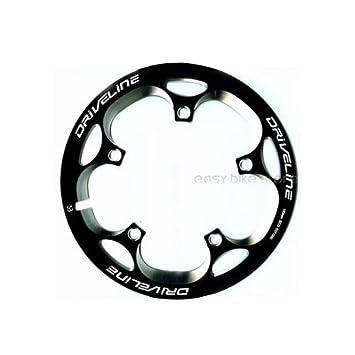 Driveline - Biela para bicicleta de carretera 53T BCD 110, color negro: Amazon.es: Deportes y aire libre