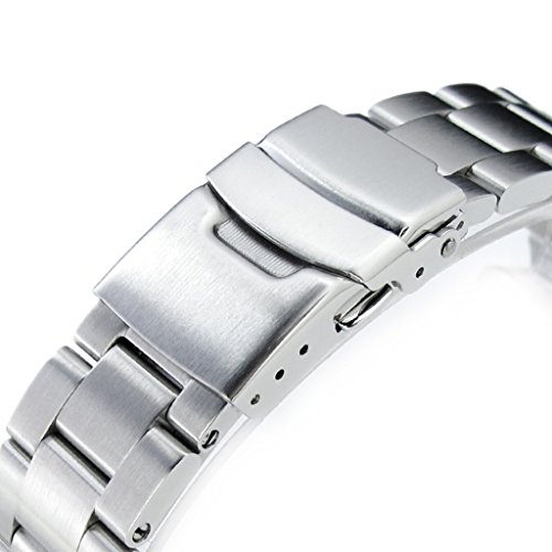 22mm Super Oyster 316L Stainless Steel Watch Bracelet for Orient Mako II & Ray II, Brushed by Orient Replacement by MiLTAT (Image #2)