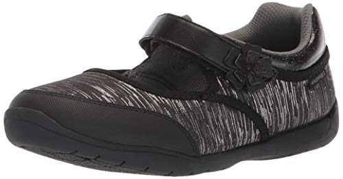 Stride Rite Made to Play Cassidy Girl's Machine Washable Athletic Sneaker, Black, 12.5 M US Little - Janes Mary Leather Athletic