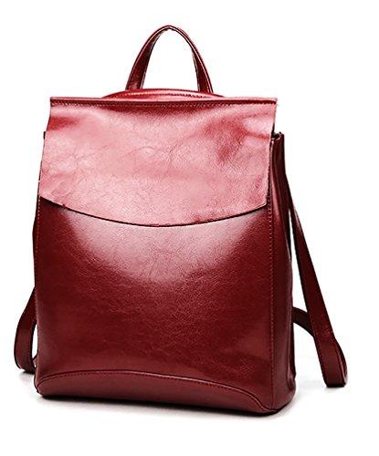 Ghlee Bordeaux Tote Liscia Pelle Bag Le Donne Per BBSqwrxP