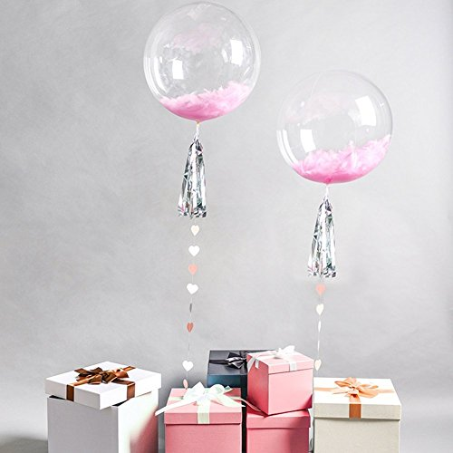 10PCS Round Bubble Ballon Transparent Balloon for Birthday Wedding Parties Celebrations Decorations (18 inches)
