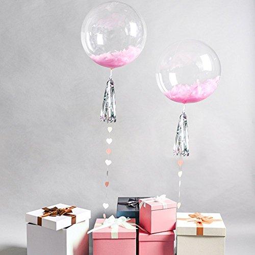 (10PCS Round Bubble Ballon Transparent Balloon for Birthday Wedding Parties Celebrations Decorations (18)