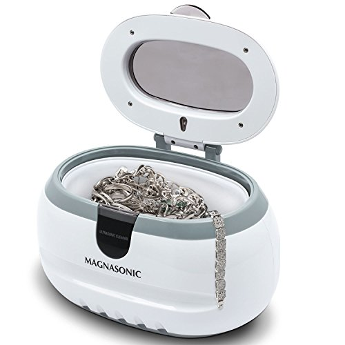 Magnasonic Professional Ultrasonic Polishing Jewelry Cleaner Machine for Cleaning Eyeglasses, Watches, Rings, Necklaces, Coins, Razors, Dentures, Combs, Tools, Parts, Instruments (CD2800)