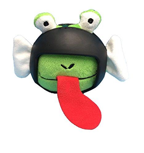 Helmet Head Ball FROG Plush Dog Toy w/TPR Helmet
