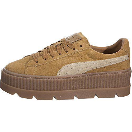 (PUMA Women's Cleated Creeper Suede Golden Brown/Lark 7.5 B US)