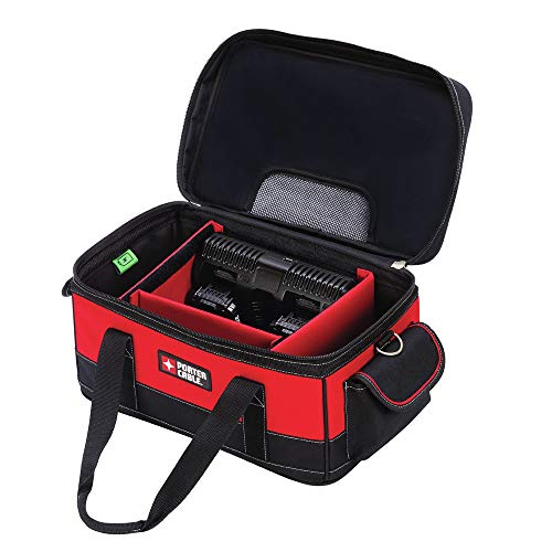 Porter Cable PCCB122C2 20V MAX Dual Port Charger Bag with two Batteries ()
