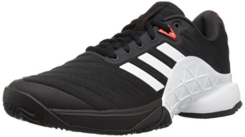 adidas Men's Barricade 2018 Tennis Shoe Core Black/White/Scarlet 9.5 M US