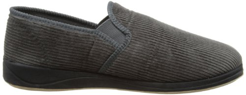 Gris Homme Doublé Padders Gris Mules Chaussons Chaud Albert twU6UYX