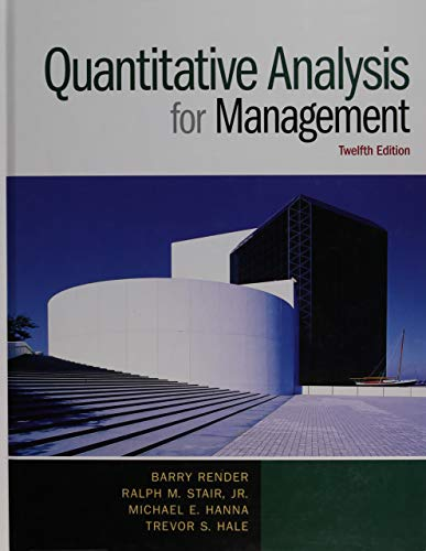 Quantitative Analysis for Management (12th - Element 13th