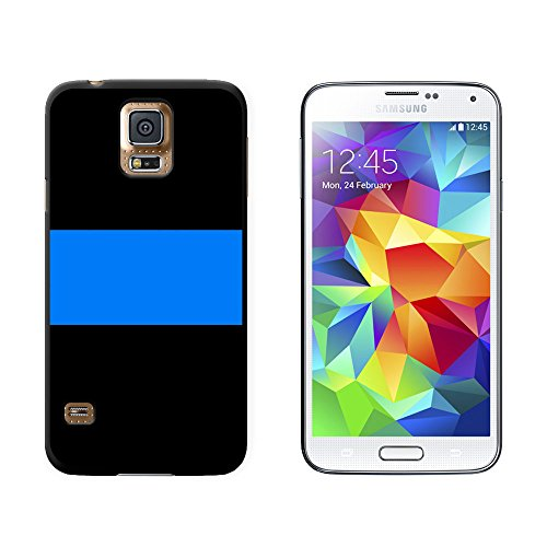 Thin Blue Line Police - Snap On Hard Protective Case for Samsung Galaxy S5 - Black