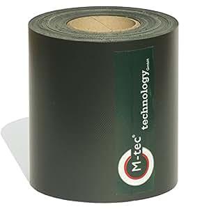 De M-Tec PVC valla rayas–Calidad Profesional de privacidad: 35m–19cm de ancho), color negro