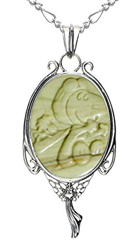 Heart of the Angel Pendant Necklace Fairy Gift Jewelry 2 PC Chains (Snoopy Friend Carving)