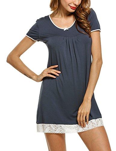 - HOTOUCH Sleepwear Women's Knit Jersey Scoopneck Sleepshirt Gray XXL