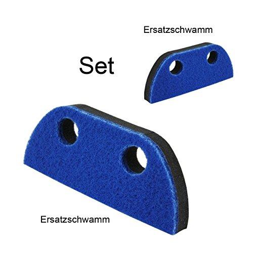 2 teilges Ersatzschwamm Set fü r Schaumstoff Kehrset und Handbesen mit Teleskopstiel Lantelme
