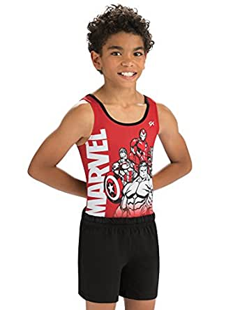 GK Marvel Trio Gymnastics Competition Shirt by Dance, Outdoor Sports & Gymnastics Activewear for Boys | Black